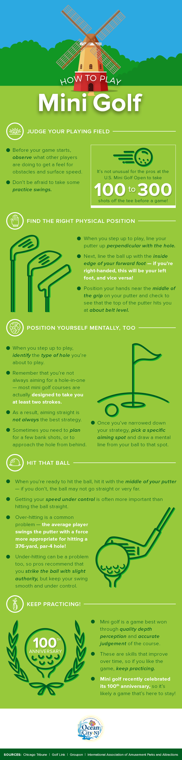 How to Play Mini Golf Infographic