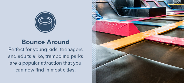 Bounce Around at a Trampoline Park