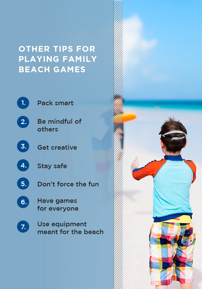 Other Tips for Playing Family Beach Games