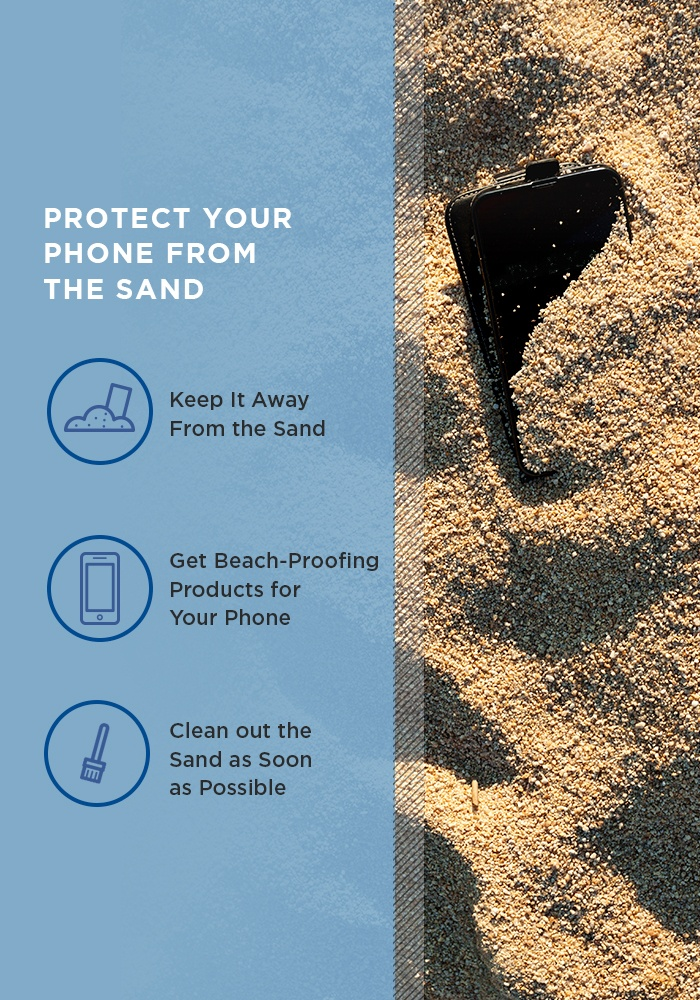 protect your phone from the sand